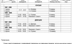 Календарь игр полуфинала по волейболу Детской лиги