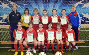 Награждение команды девочек 2003 года рождения