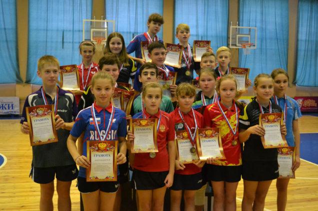 Первенство Московской области среди юношей и девушек до 16 лет по настольному теннису