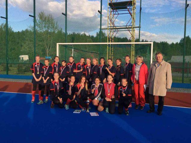 На Первенстве России по хоккею на траве среди девушек 13-14 лет Сборная команда Московской области стала Победителем