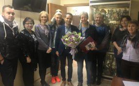Поздравили ведущего тренера по футболу - Нуйкину Елену Николаевну с юбилеем!