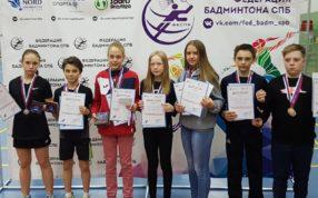 В г. Санкт-Петербург прошли всероссийские юниорские и юношеские рейтинговые соревнования по бадминтону